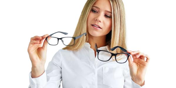 Girl Choosing New Glasses